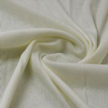 Cream - Plain 100% Cotton 2x1 Rib